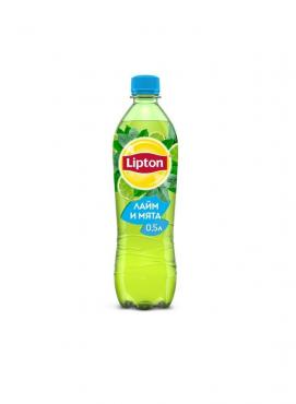 Напиток безалкогольный холодный зелёный чай Lipton Ice Tea Лайм-Мята 0,5 л.