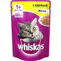 Корм влажный для кошек от 1 года желе с курицей Whiskas 85 гр. Дой-пак