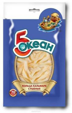 Кольца кальмара Пятый океан Сушеные