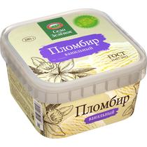 Мороженое пломбир Село Зеленое ванильное