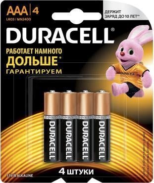 Батарейки Duracell Basic ААА 4 шт.