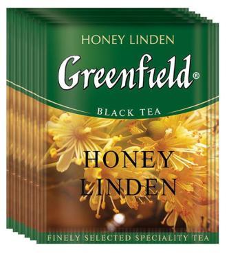 Чай черный Greenfield Honey Linden 100 пак., 150 гр., Картонная коробка