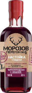 Настойка Морозов Перегон №6 сладкая Черноплодная с вишней 18%