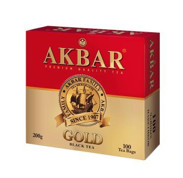 Чай черный Akbar Gold 100 пакетов