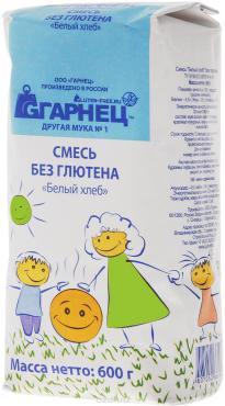 Смесь Белый хлеб без глютена, Гарнец, 600 гр., бумажная упаковка