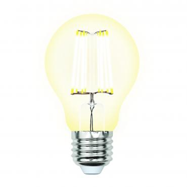 Лампа светодиодная 3000К прозрачная форма-А белый свет Uniel Sky LED-A60-10W/WW/E27/CL PLS02WH, 70 гр., картонная коробка