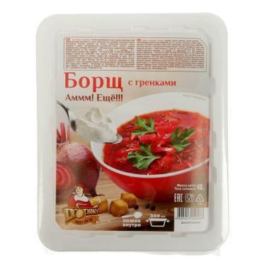 Суп быстрого приготовления Добряк Борщ с гренками
