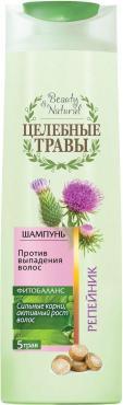 Шампунь против выпадения волос Целебные Травы Репейник, 400 мл., пластиковая бутылка