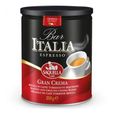 Кофе Saquella bar italia gran crema молотый