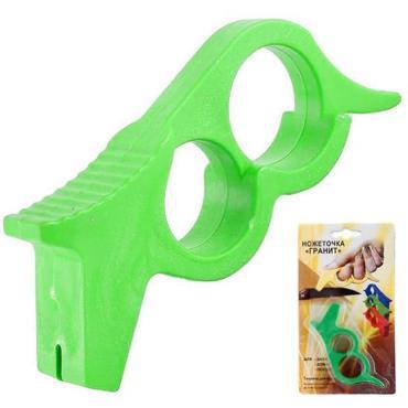 Точилка для ножа, пластик цв. зеленый Гранит, 29 rр., пластиковый пакет