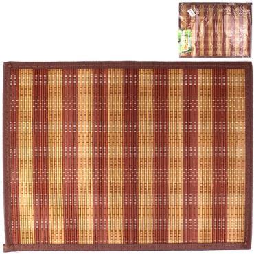 Коврик сервировочный бамбуковый столовый 40 х 30 см., 102 гр., пластиковый пакет