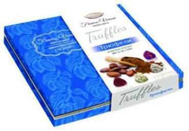 Набор конфет трюфель Звезда Кубани Franco Veroni Эксклюзив Бархатно-синий, 210 гр., картонная коробка