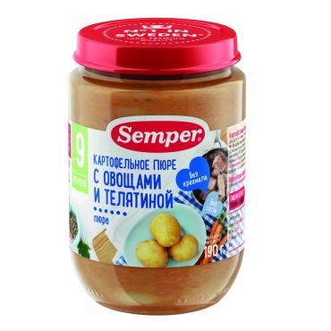 Детское пюре Semper Картофельное с морковью и телятиной