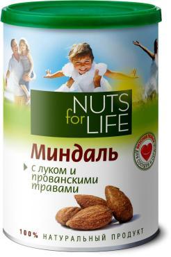 Миндаль Nuts for Life обжаренный соленый с луком и прованскими травами