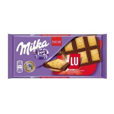 Шоколад LU плитка , Milka, 87 гр., флоу-пак