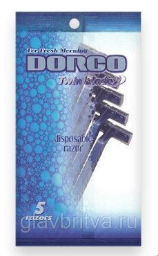 Станок одноразовый бритвенный с двумя лезвиями 5 шт. Dorco, 25 гр., пластиковый пакет