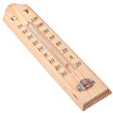 Термометр деревянный оконный, на блистере диапазон температуры от -40 до +50, длина 26 см, Inbloom, блистер