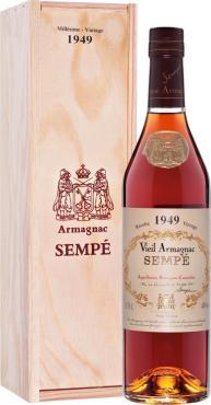 Арманьяк 40% Sempe Vieil Armagnac 1949, 700 мл., подарочная упаковка
