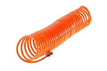Шланг спиральный 814-008, 10 м., 5х8 мм., с адаптерами БРС евро, Wester, 340 гр., пластиковый пакет