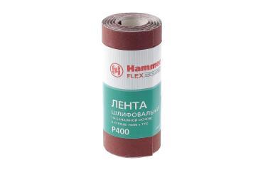 Лента шлифовальная в рулоне 115х5м P400 бумажная основа Hammer Flex 216-017, 190 гр., бумажная упаковка