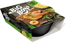 Лапша Big Bon С тушёной курицей грибами и овощами Быстрого приготовления