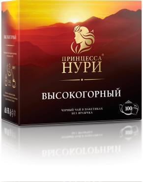 Чай Принцесса НУРИ черный Высокогорный 100 пакетиков