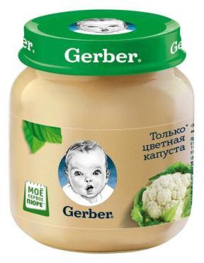 Пюре Gerber Цветная капуста с 4 месяцев