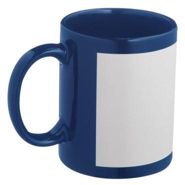 Кружка синяя с логотипом ТЕТ 0,45л