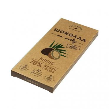 Шоколад Шоколад На Меду Горький 70% какао С Кокосом