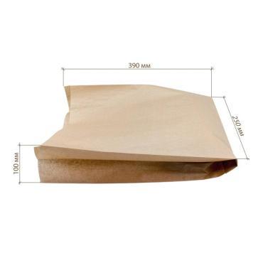 Крафт пакет с пл. дн., 250*100*390 мм