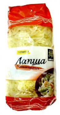 Лапша рисовая крупная Midori , 380 гр., пластиковый пакет