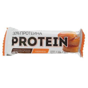 Протеиновый батончик Карамель в шоколадной глазури, Effort Protein, 60 гр., Флоу-пак