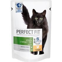 Корм сухой для кошек старше 7 лет, с курицей Perfect Fit 85 гр. Дой-пак