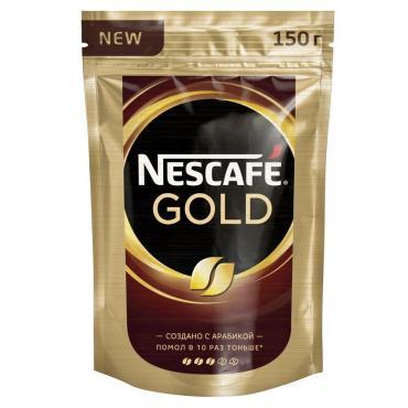 Кофе Nescafe Gold растворимый, 150 гр., дой-пак