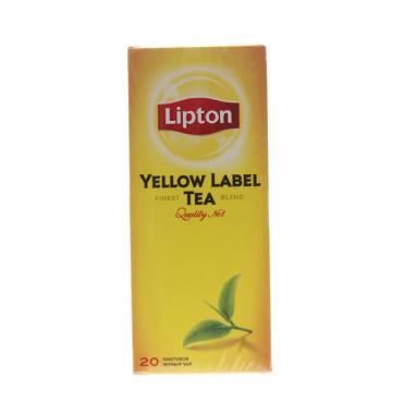 Чай черный Lipton Yellow Label 20 пакетов