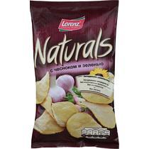 Чипсы картофельные Lorenz Naturals с чесноком и зеленью