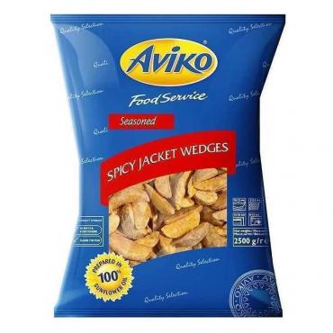 Картофель фри Aviko дольки в кожуре со специями с/м