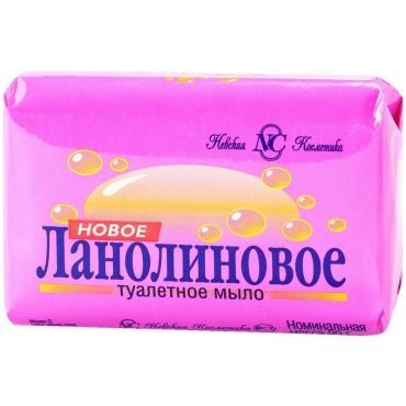 Мыло туалетное Невская косметика Новое Ланолиновое кусковое