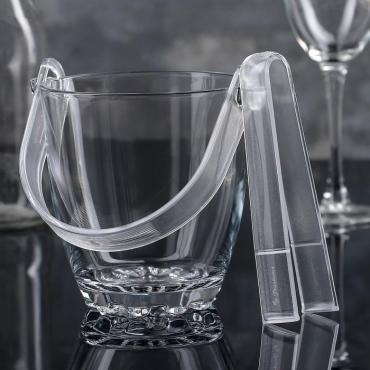 Ведро для льда Paşabahçe с ручкой и щипцами Sylvanа h=13 сантиметров