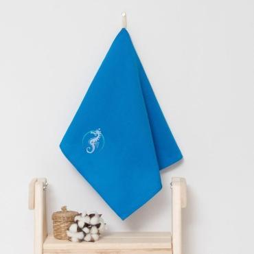 Полотенце детское Доляна Конёк, цвет песочный 40х70 сантиметров, 100% хлопок