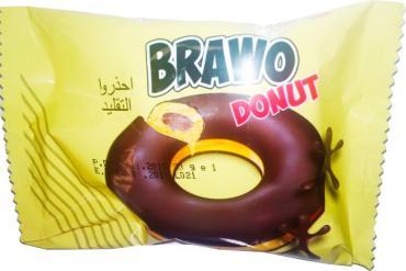 Пончик Brawo Donut с какао начинкой в глазури