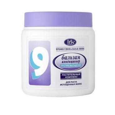 Бальзам-кондиционер Iris 9 от Выпадения для Укрепления волос с Авокадо и Хи Шу Ву Питание