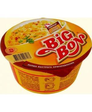 Лапша Big Bon Быстрого приготовления Курица + соус Карри