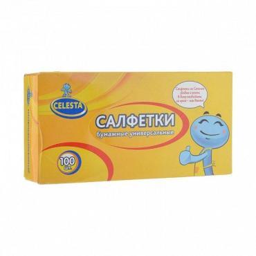 Бумажные салфетки Celesta Универсальные 100 шт