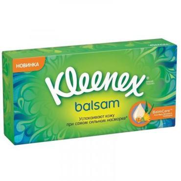 Салфетки 72 шт., Balsam, Kleenex, картонная коробка