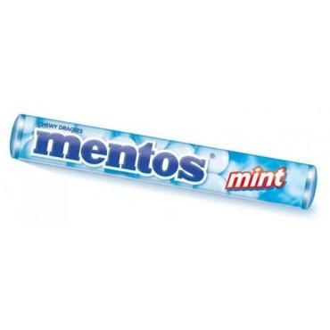 Драже Mentos жевательная с мятным вкусом