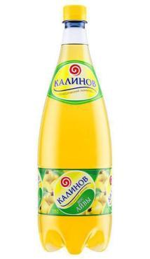 Лимонад Вкус айвы сильногазированный, Калинов, 1,5 л., пластиковая бутылка