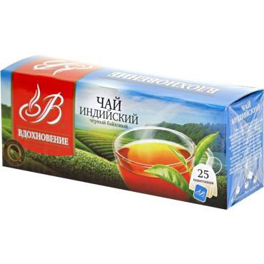 Чай индийский черный байховый Вдохновение, 45 гр., картонная коробка