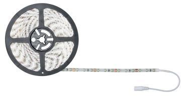 Гибкая светодиодная лента на самоклеящейся основе. Катушка 5 м. Дневной свет 6500 K. ULS-Q330 2835-120LED/m-8mm-IP20-DC12V-9,6W/m-5M-6500K, Volpe, 80 гр., пластиковый пакет