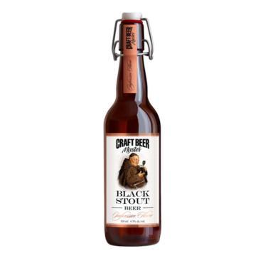Пивной напиток Craft Beer Master Black Stout нефильтрованный 4,5%
